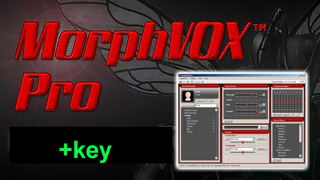 useful software for you: MorphVOX Pro 4.4.33 + key (activation) / morphvox pro crack