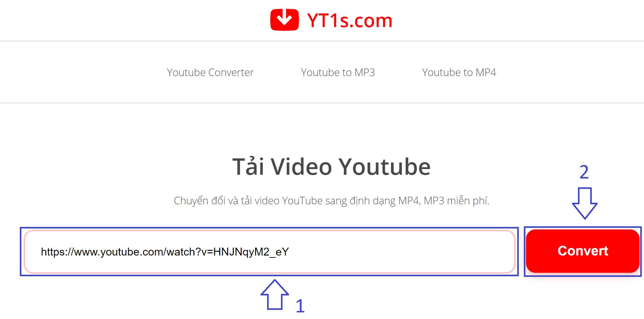 Hướng dẫn tải video YouTube qua wed không cần sử dụng phần mềm