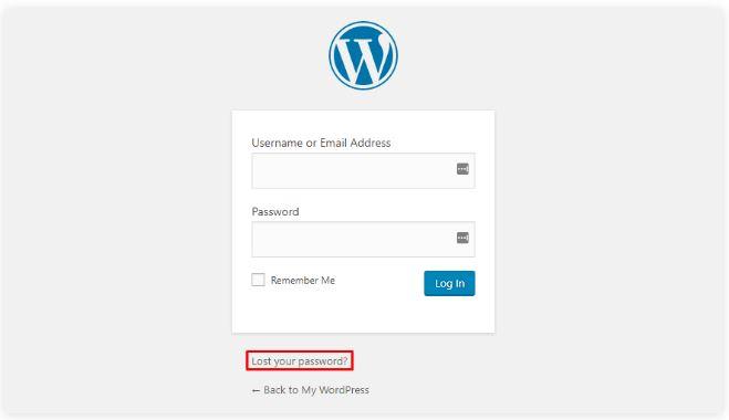 Cách đăng nhập bẳng điều khiển wordpress