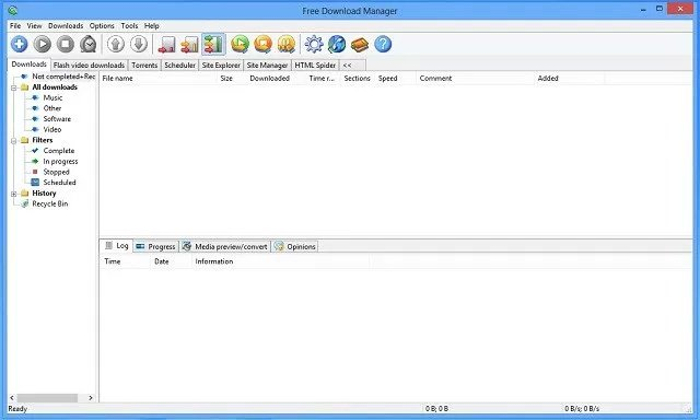 Phần mềm hỗ trợ download Free Download Manager